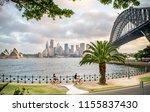 wide shot of tourists biking... | Shutterstock . vector #1155837430
