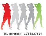vector conceptual fat... | Shutterstock .eps vector #1155837619