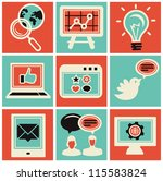 vector internet marketing icons ... | Shutterstock .eps vector #115583824