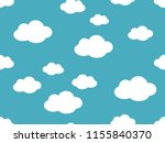 cute clouds pattern. endless...   Shutterstock .eps vector #1155840370