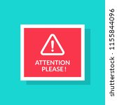 attention please concept vector ... | Shutterstock .eps vector #1155844096