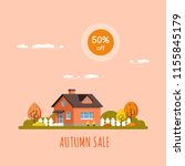 autumn sale banner  picture of... | Shutterstock .eps vector #1155845179