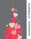 confetti cover. path with... | Shutterstock .eps vector #1155846070