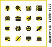 universal icons set with data ...