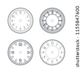 clock face set with roman and... | Shutterstock .eps vector #1155847600