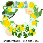 the frame that is made with... | Shutterstock .eps vector #1155850153