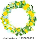the frame that is made with... | Shutterstock .eps vector #1155850159