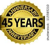 45 years anniversary golden... | Shutterstock .eps vector #115585210