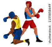 two boxers fighting. battle... | Shutterstock .eps vector #1155858649