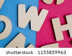 words have power word cube on... | Shutterstock . vector #1155859963