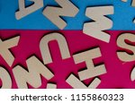 words have power word cube on... | Shutterstock . vector #1155860323
