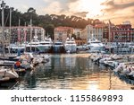 yachts anchored in the port of... | Shutterstock . vector #1155869893