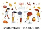 back to school banner design... | Shutterstock .eps vector #1155873406