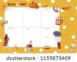 weekly planner template.... | Shutterstock .eps vector #1155873409