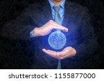 view of a big data title... | Shutterstock . vector #1155877000