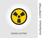 radio active icon radiation... | Shutterstock .eps vector #1155877960