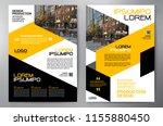 business brochure. flyer design.... | Shutterstock .eps vector #1155880450