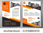 business brochure. flyer design.... | Shutterstock .eps vector #1155880453