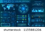 futuristic hud background.... | Shutterstock .eps vector #1155881206