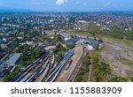 aerial view of a huge railway... | Shutterstock . vector #1155883909