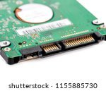 hard drive isolated on white... | Shutterstock . vector #1155885730