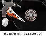 hard drive isolated on white... | Shutterstock . vector #1155885739