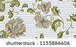 beautiful  seamless vintage... | Shutterstock .eps vector #1155886606