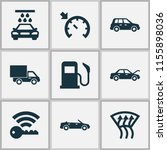 car icons set with fuel  cruise ... | Shutterstock . vector #1155898036