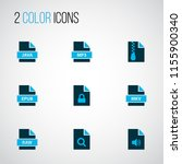 types icons colored set with... | Shutterstock .eps vector #1155900340