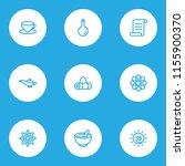 meditation icons line style set ... | Shutterstock .eps vector #1155900370