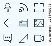 interface icons line style set... | Shutterstock .eps vector #1155900373