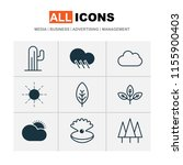 landscape icons set with... | Shutterstock .eps vector #1155900403