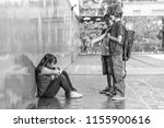asian girl bullied by... | Shutterstock . vector #1155900616