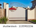 automatic gate with forged... | Shutterstock . vector #1155902236