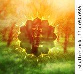 spiritual illustration with... | Shutterstock .eps vector #1155905986