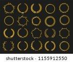 golden vector laurel wreaths on ... | Shutterstock .eps vector #1155912550