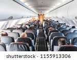 interior of commercial airplane ... | Shutterstock . vector #1155913306