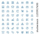 set of city objects icons.... | Shutterstock .eps vector #1155917650