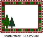 christmas stripped frame  ...   Shutterstock .eps vector #115592080
