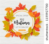 autumn sale background with... | Shutterstock .eps vector #1155927700