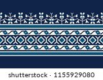 woodblock printed seamless... | Shutterstock .eps vector #1155929080