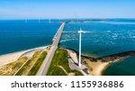 oosterschelde flood barrier... | Shutterstock . vector #1155936886