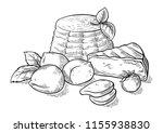 cheese ricotta mozzarella hand... | Shutterstock .eps vector #1155938830