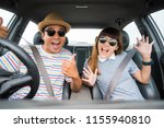front view of funny moment... | Shutterstock . vector #1155940810