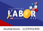 labor day sale promotion... | Shutterstock .eps vector #1155942400