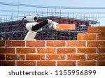 smart robot industry 4.0 arm... | Shutterstock . vector #1155956899