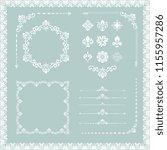 vintage set of horizontal ... | Shutterstock . vector #1155957286