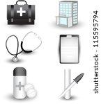 medical icon set | Shutterstock .eps vector #115595794
