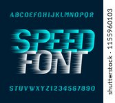 speed alphabet font. fast wind... | Shutterstock .eps vector #1155960103