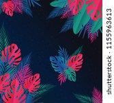 tropical jungle leaves...   Shutterstock .eps vector #1155963613